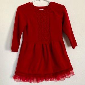18M Cat & Jack Red Sweater Dress